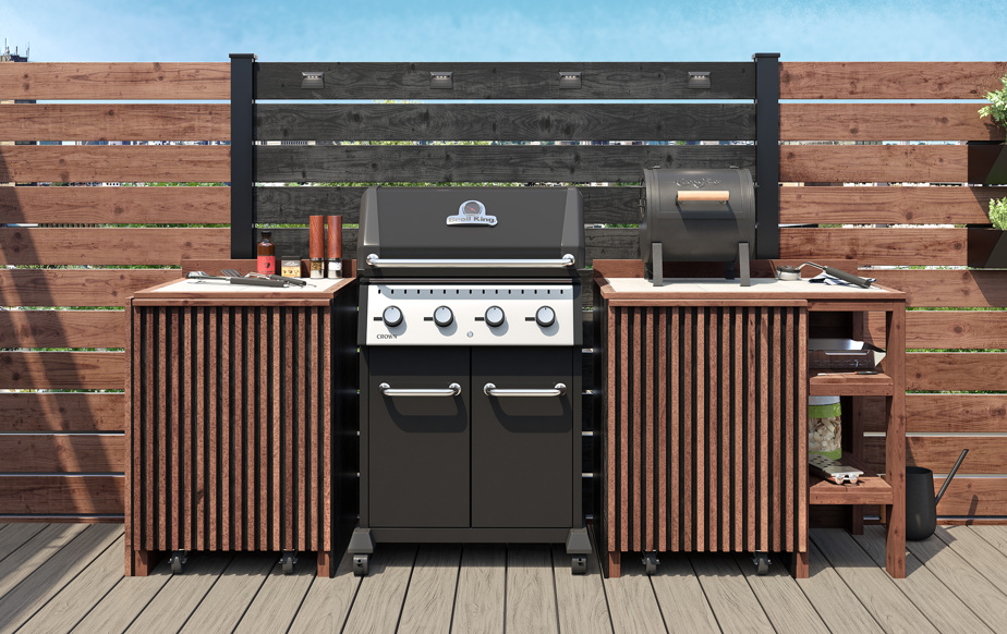 La cuisine se transpose à l'extérieur, constate-t-on chez Lowe's Canada. La popularité des îlots et des modules augmente, alimentée par le désir d'avoir un espace fonctionnel consacré à la cuisson sur le barbecue.