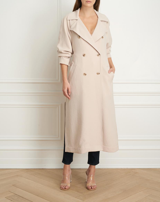 Manteau long de style trench (725$)