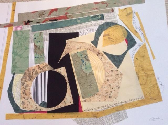Déchaînement, 2020, Christiane Léaud, collage, 50cm x 70cm.