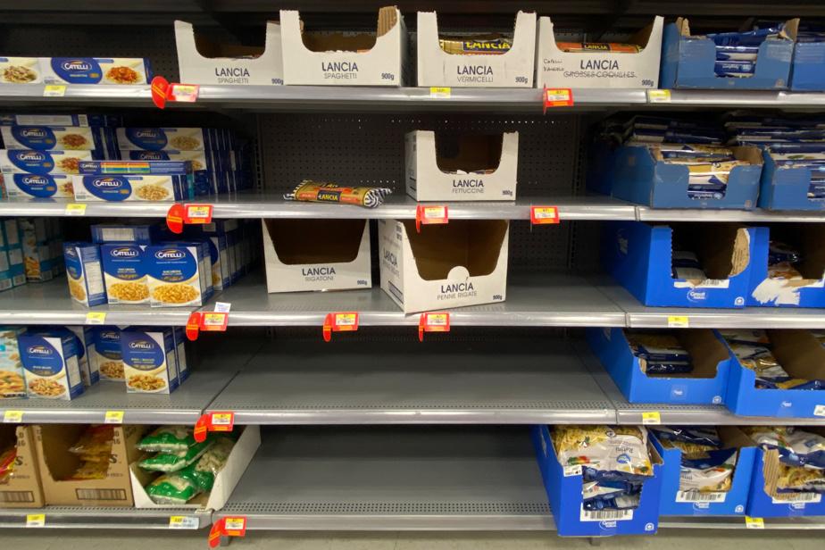 … tout comme les emballages de certaines pâtes alimentaires au Walmart de la même ville.