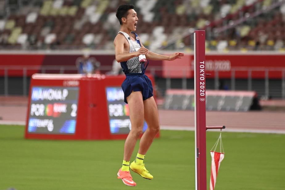 Woo Sang-hyeok, 4e au saut en hauteur, a perfectionné l'art de la célébration en plein vol.