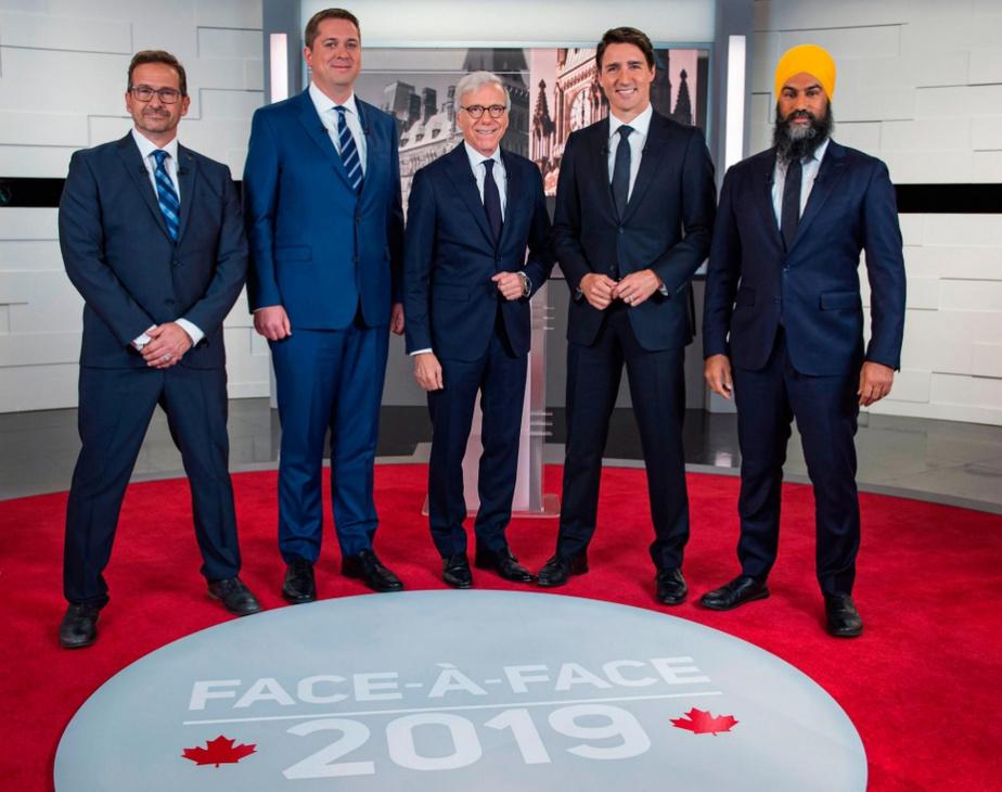 Elections canadiennes: débat télévisé houleux entre les candidats