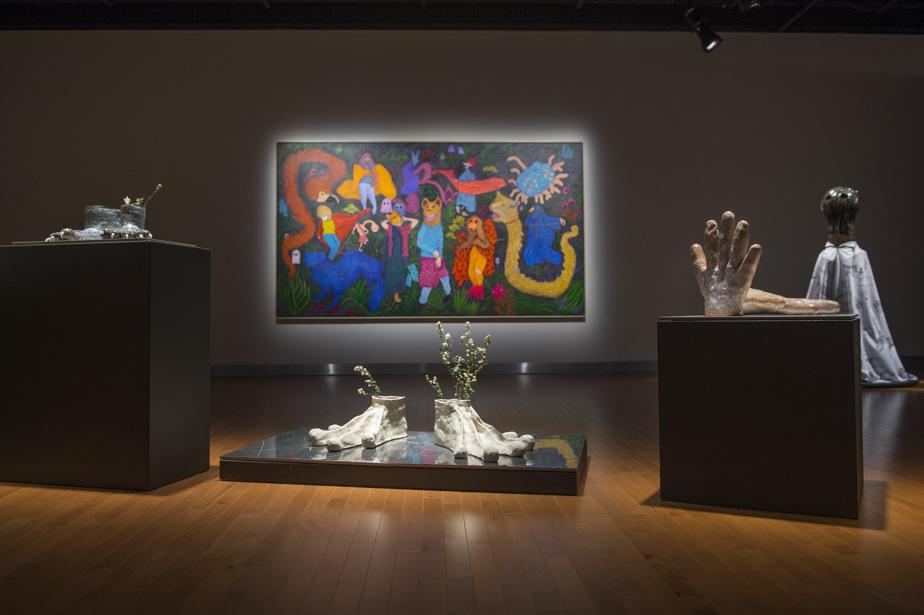 Vue de l'exposition de Fanny Mesnard