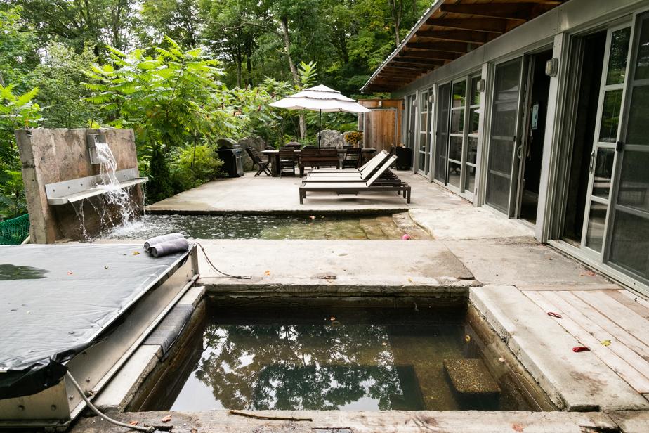 Le spa et la piscine évoquent des plans d'eau naturels.