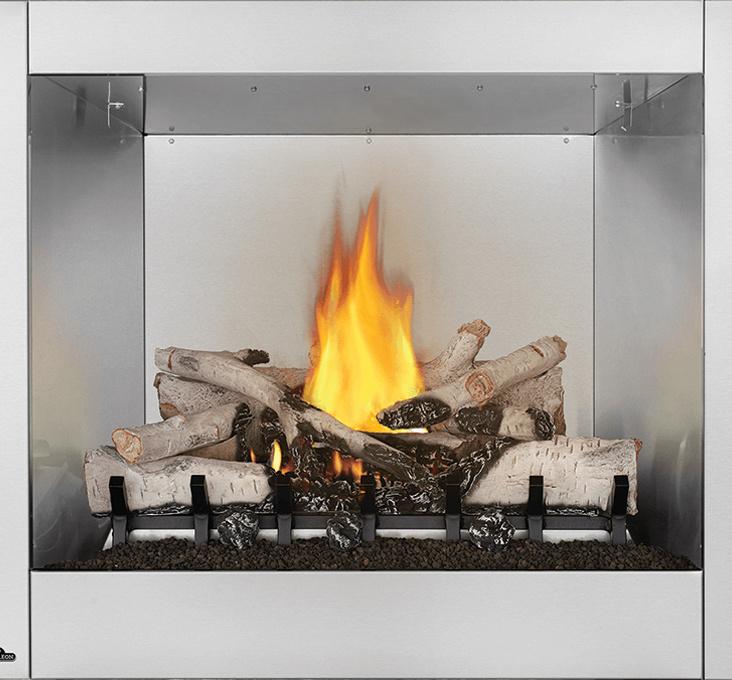 Foyer extérieur au gaz naturel à chaleur radiante, Riverside36 de Napoleon, 100% acier inoxydable