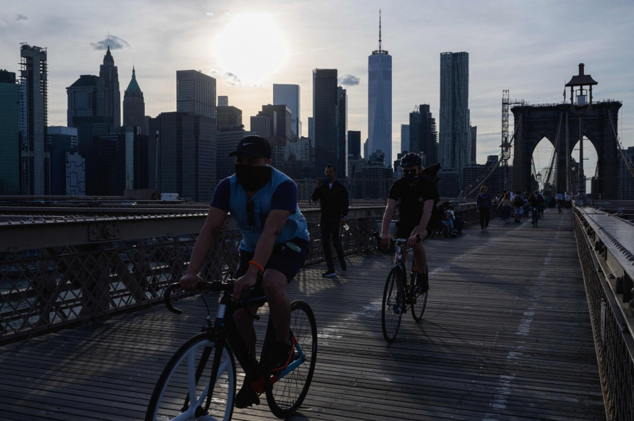 La piste cyclable du pont de Brooklyn