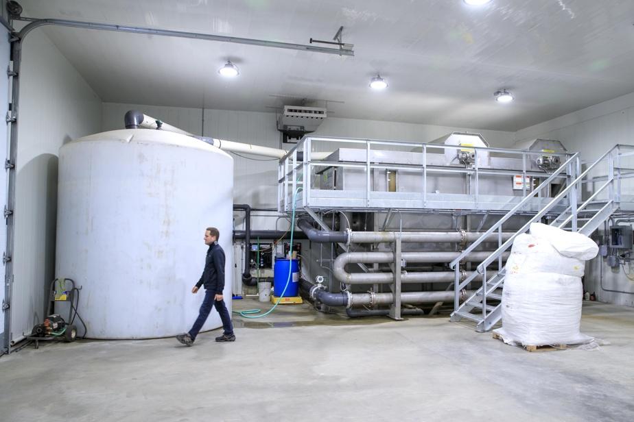 L'usine de traitement des eaux où on récupère le phosphore des déjections de truites.