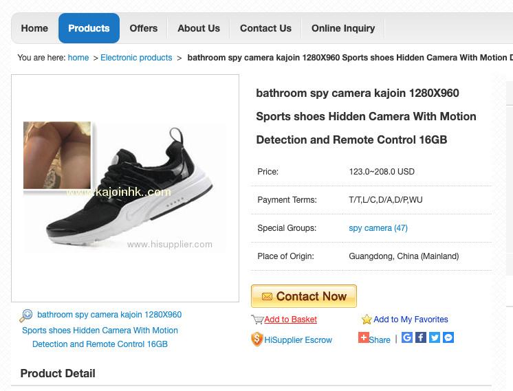 Exemples de caméras déguisées en objets banals qu'on peut aisément trouver sur le web.