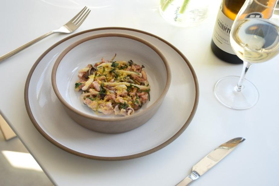 La salade de pieuvre et de calmars est une des entrées froides qui vous seront servies au Boxotel, dans le cadre de son jumelage avec le restaurant État-Major, pour Montréal en lumière.