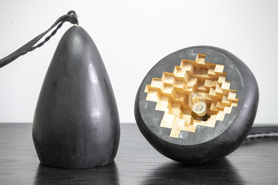 Une lampe en bois