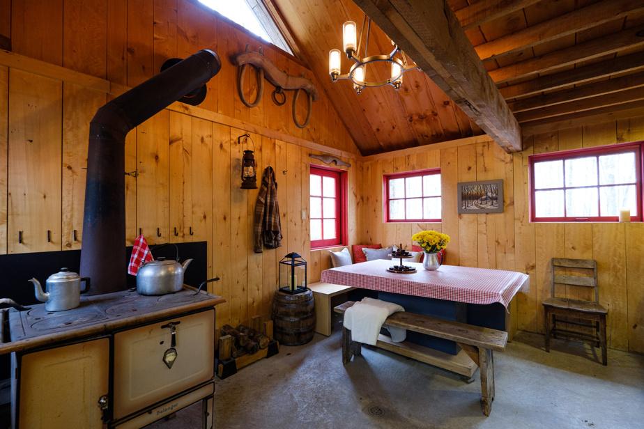 La famille a passé de très heureux moments dans la cabane. «On s'est beaucoup amusés et on a fait de bons petits soupers sur le poêle», se souvient Stéphane Beaucage.