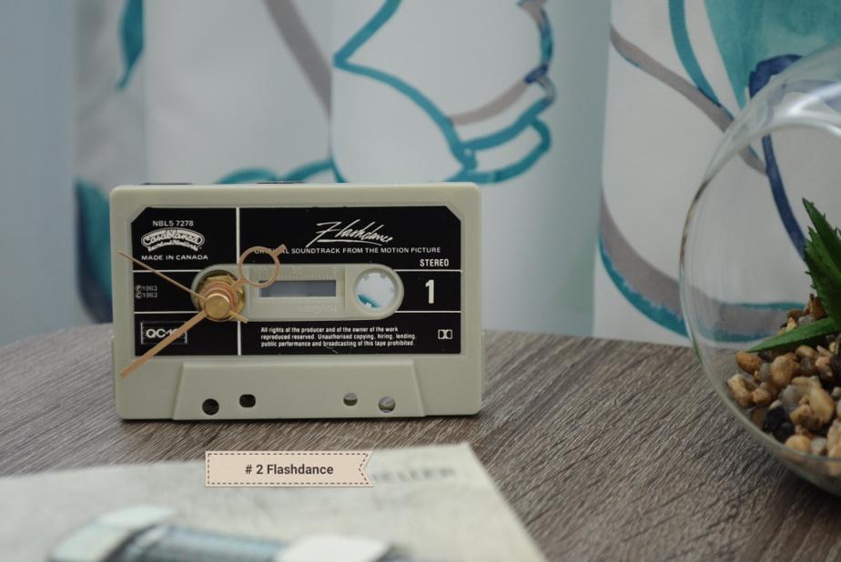 Les vieilles cassettes servent aussi à la conception d'horloges.