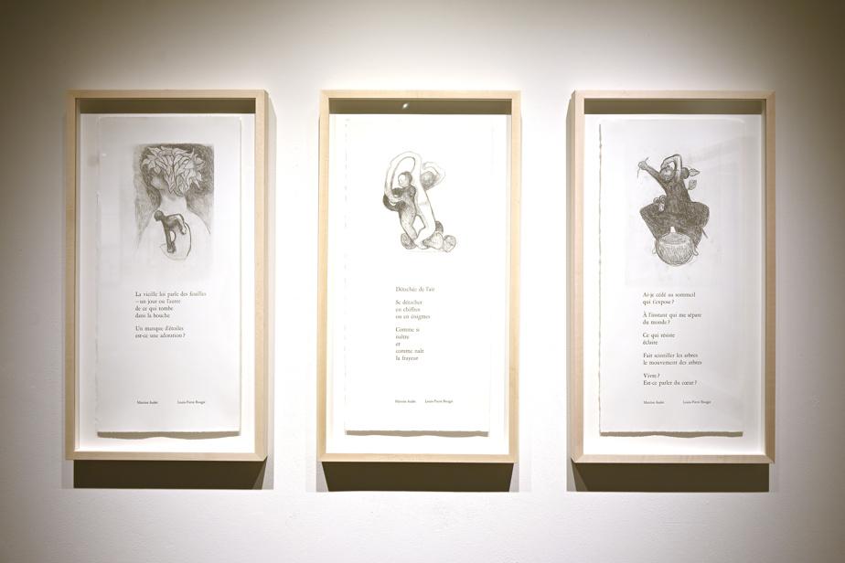 Derniers dessins de Louis-Pierre Bougie jumelés à la poésie de Martine Audet. Leur livre d'artiste s'intitulera Ce qui résiste.