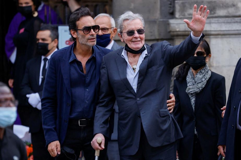 L'acteur Alain Delon (à droite) et son fils Anthony Delon