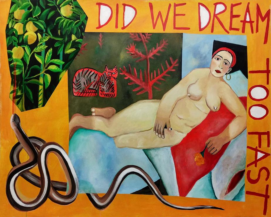 Did We Dream Too Fast, 2020, Chloé Gagnon, acrylique sur toile, 172,7cm x 137cm.