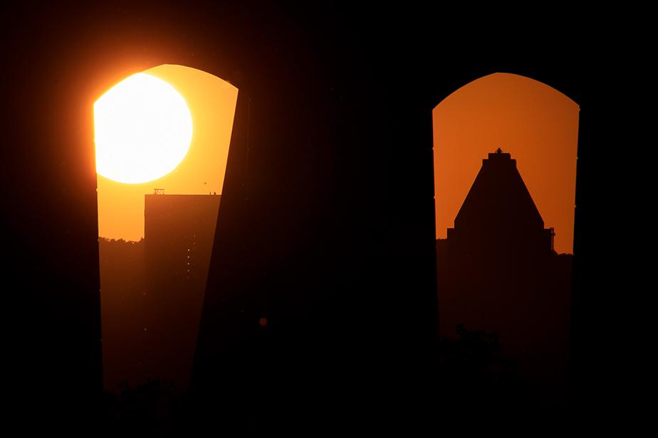 Coucher de soleil sur Montréal