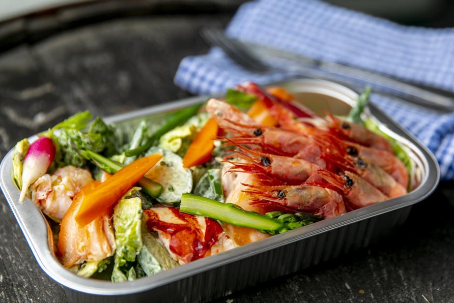 Salade de fruits de mer et aioli