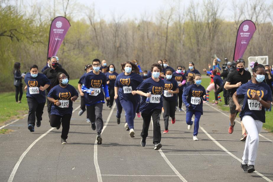 Plus de 40jeunes ont couru, à l'école Leblanc.
