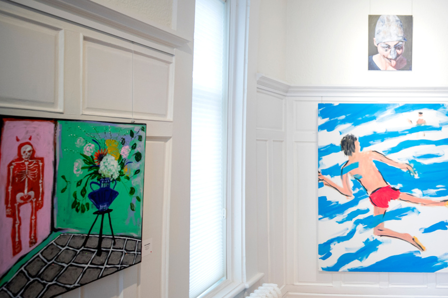 Vue de l'exposition Écho boomer: Natifs numériques présentée à Projet Casa, lieu d'art contemporain mis sur pied au bord du mont Royal par les collectionneurs Danielle Lysaught et Paul Hamelin.