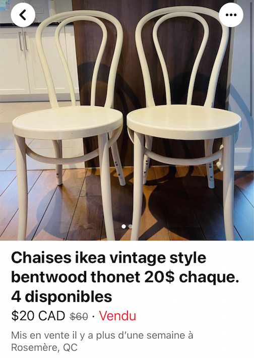 Deux chaises IKEA