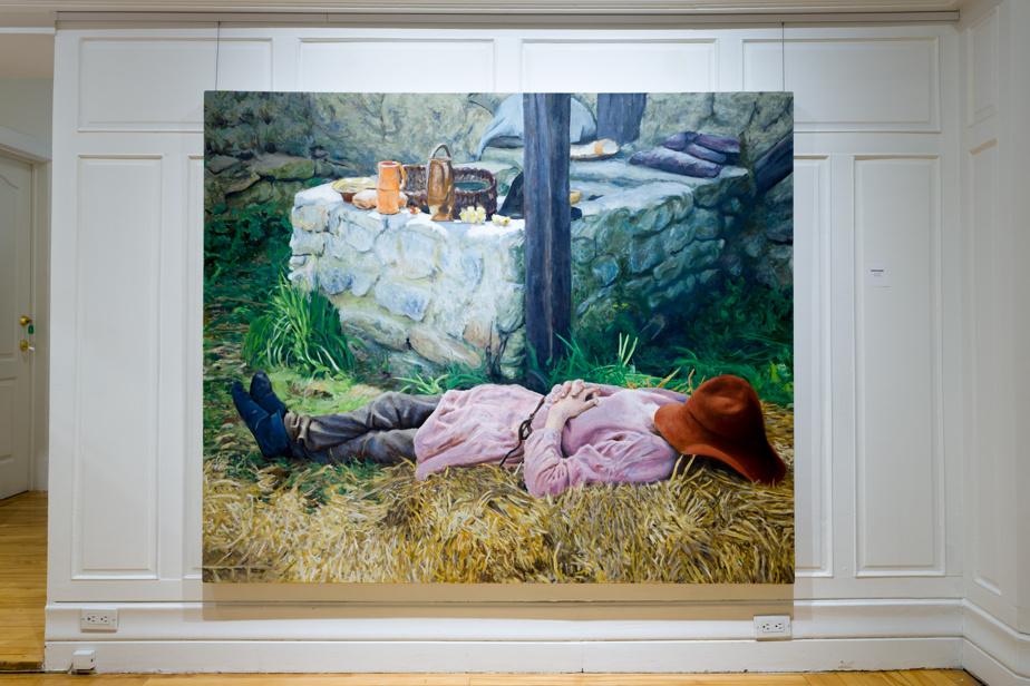 Junction, 2020, Trevor Bourke, huile sur toile, 152,4cm x 182,8cm.