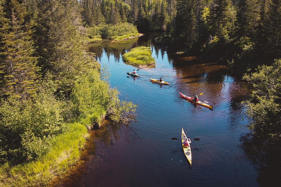 Randonnée en kayak au Parc naturel habité Saint-Donat