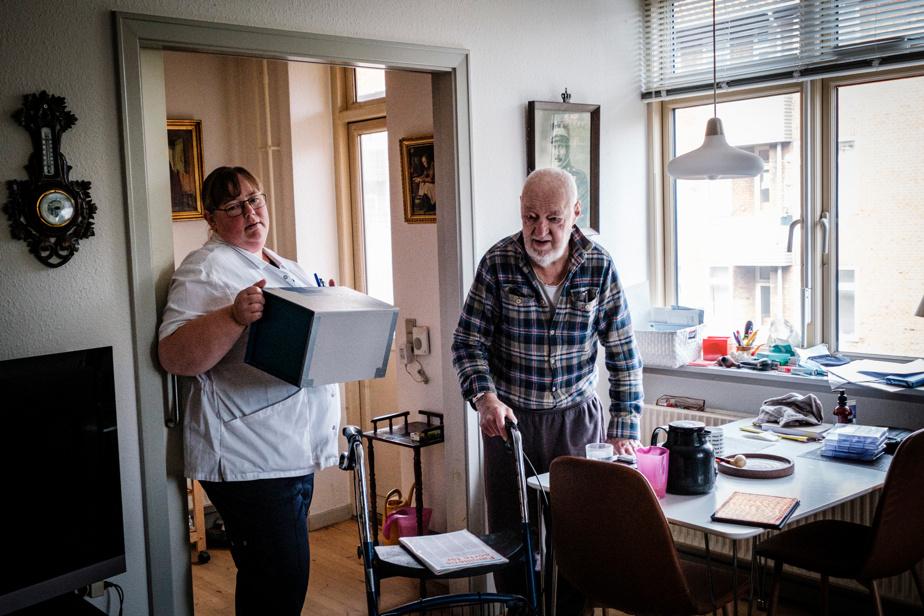 Lone Schjødt et Jens Erik Pedersen, 82ans