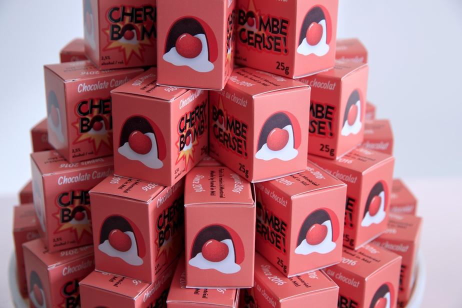 Un emballage au look rétro pour les «Bombe cerise»