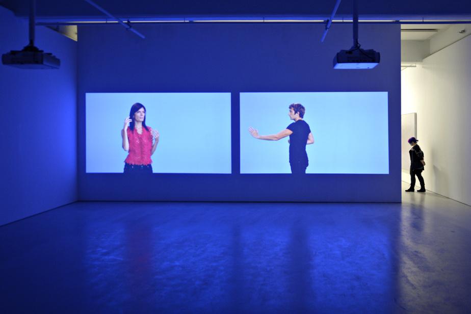 Vue de l'exposition Passages vers l'abstraction, au Musée d'art de Joliette, en 2015