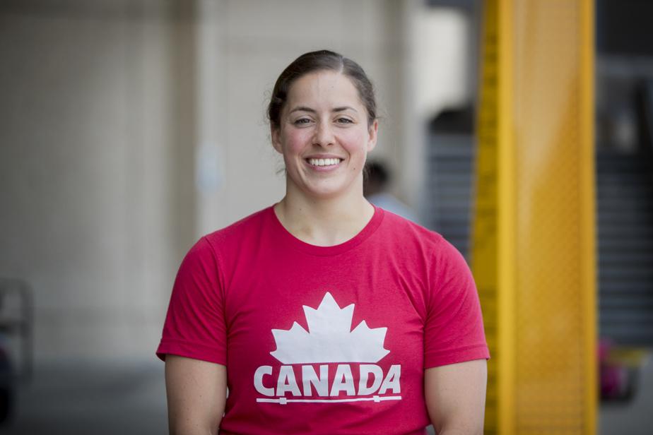 MAUDE CHARRON ET TALI DARSIGNY  Haltérophilie 22h50 — Deux Québécoises sont à l'œuvre ce soir: Maude Charron (notre photo) chez les 64kg et Tali Darsigny chez les 59kg.