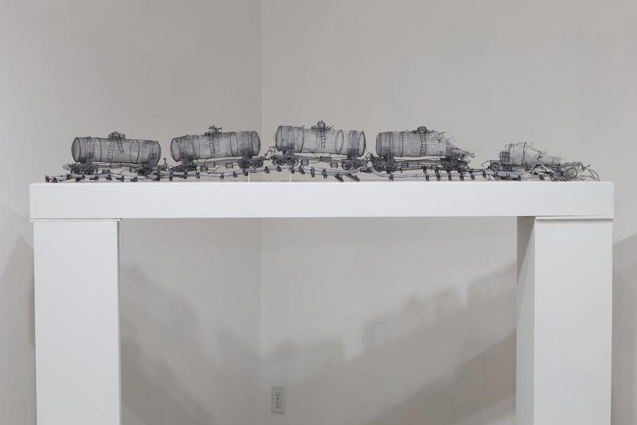 En voyant ce train de citernes, on peut spontanément penser aux victimes de la tragédie de Lac-Mégantic.
