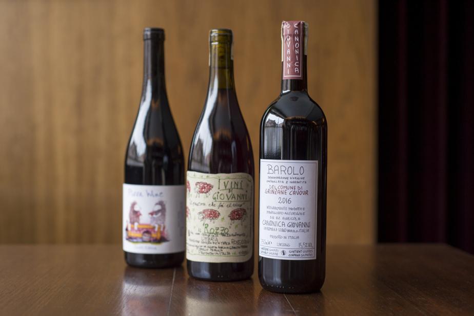 Vins rouges Pizza Wine, Vini di giovanni et Barolo
