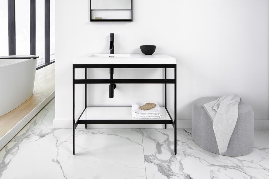 Meuble-lavabo aux lignes épurées C Collection