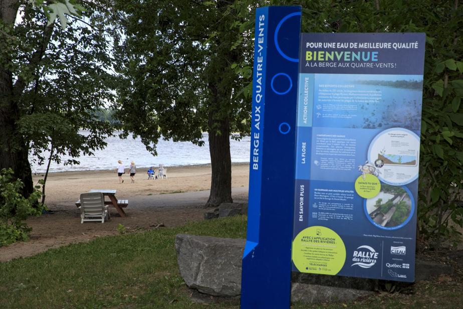 Circuit découverte des berges à Laval, grâce à l'application mobile Rallye des rivières, pour visiter les différentes bornes touristiques sur le bord de l'eau