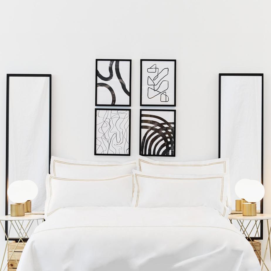 La marque compte également une ligne plus «polie» de style hôtel, en coton soyeux.