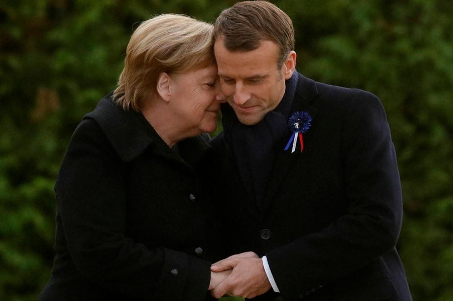 Autre moment émouvant avec un président français, cette fois Emmanuel Macron en 2018, à l'occasion du 100eanniversaire de l'armistice de la Première Guerre mondiale