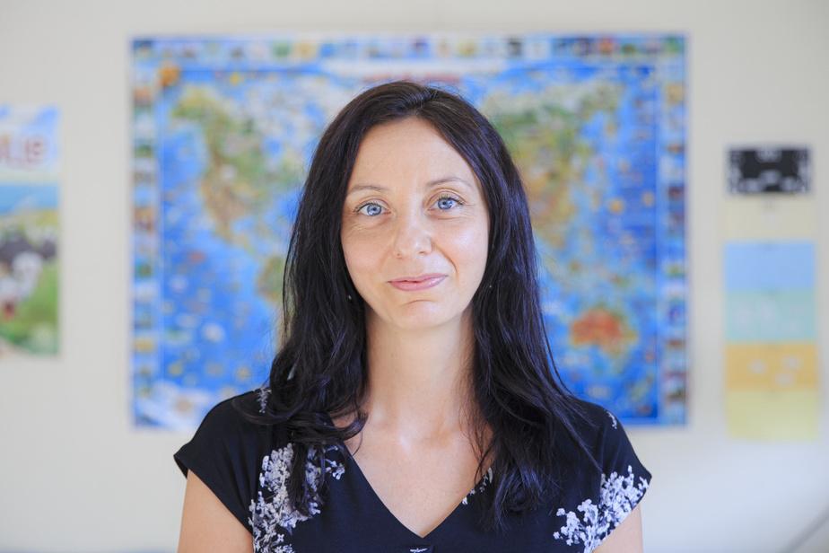 Marie-Josée Demers, enseignante à l'école Mariboisé, à Saint-Jérôme, et instigatrice de l'idée du «looping», voulant que les enseignants suivent leurs élèves au niveau supérieur à la rentrée.