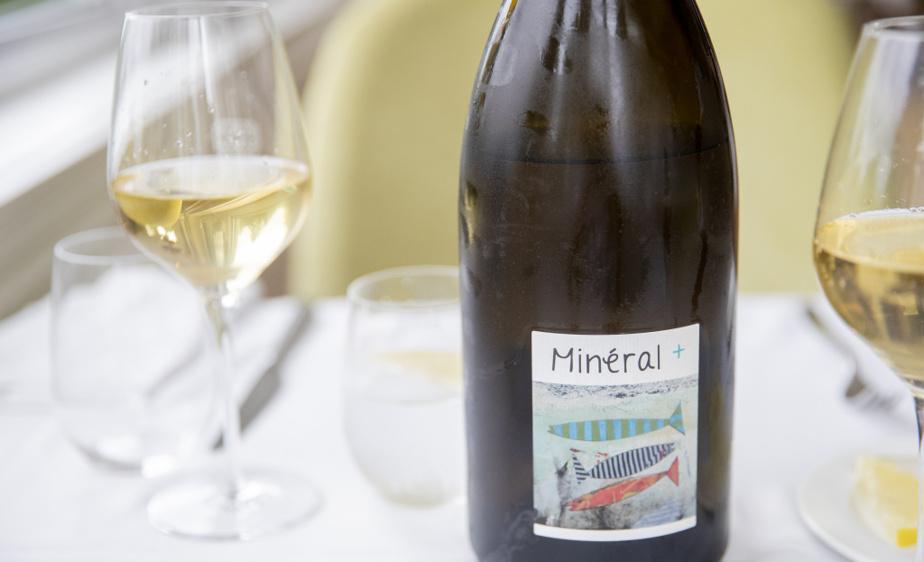 La carte des vins est l'affaire de Jean-Michel Cartier, directeur de la restauration, comme ce rafraîchissant vin de la Loire, Minéral+.