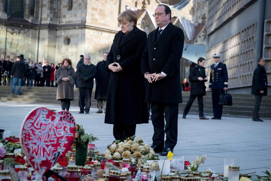 En janvier 2017, solidarité franco-allemande après l'attentat dans un marché de Noël à Berlin