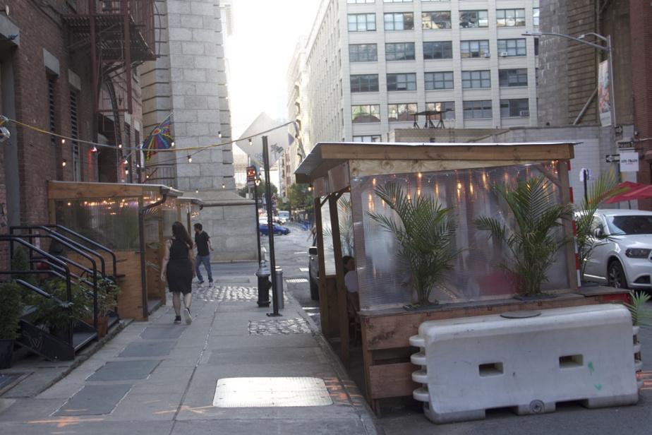 Chaque restaurant a bricolé sa propre installation, selon ses moyens.