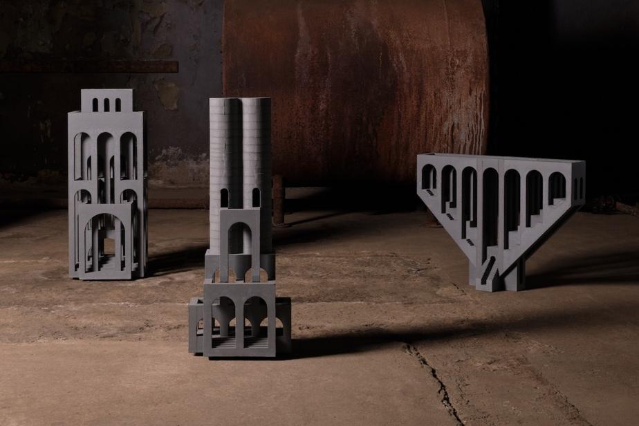 Le bachelier en architecture David Umemoto propose une série de bâtiments miniatures en béton qui rappellent les structures classiques.