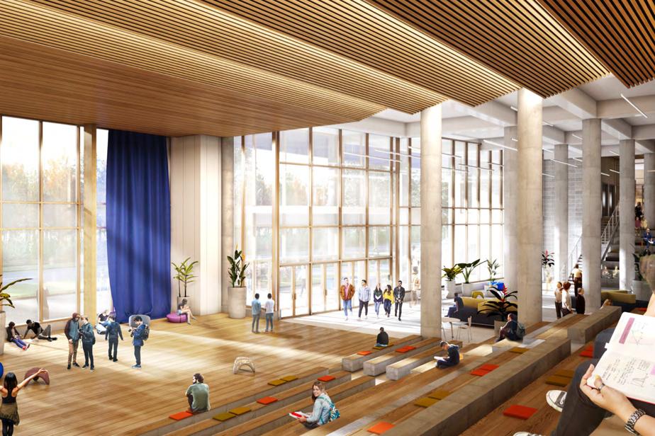 Vue intérieure de la future école secondaire qui sera construite à Anjou