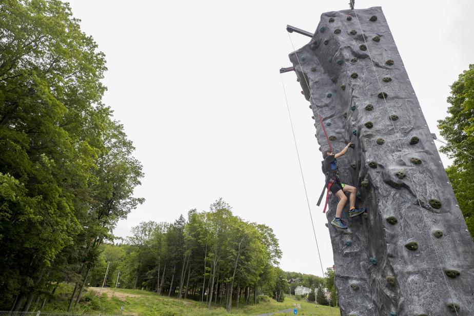La petite structure d'escalade sera aussi au rendez-vous.