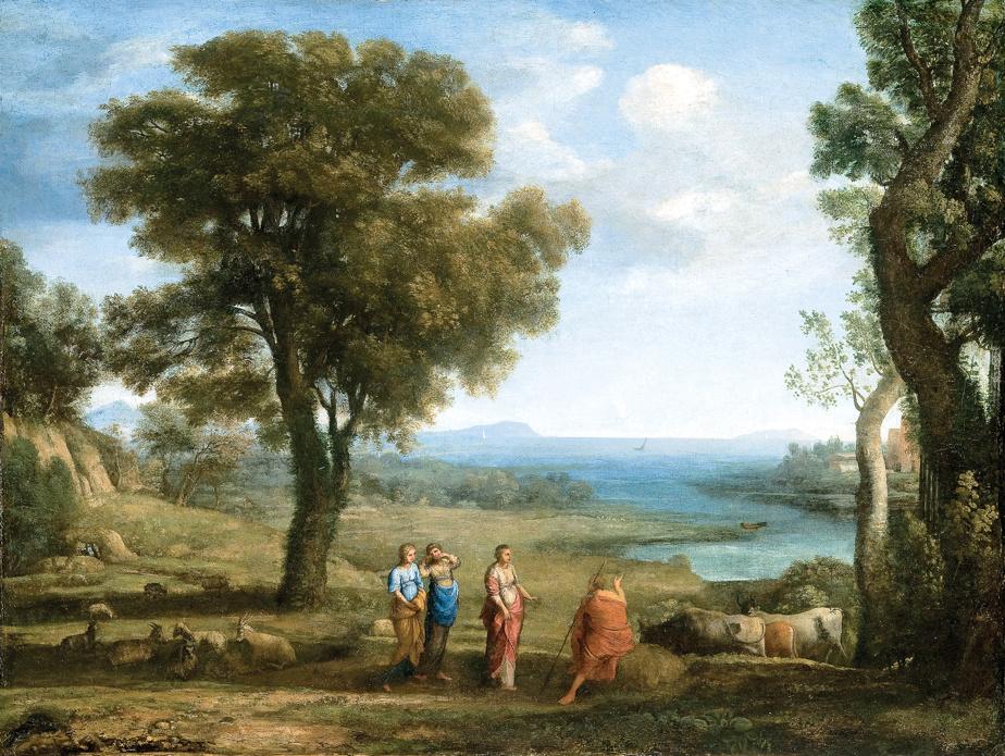 Les filles d'Hélios cherchant leur frère Phaéton, 1658, Claude Gellée, dit Claude Lorrain, huile sur toile. Don de Michal et Renata Hornstein en l'honneur de Hilliard T. Goldfarb.