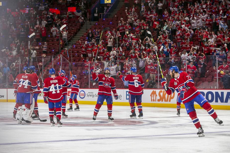 Les joueurs du Canadien remercient leurs partisans après le but gagnant de Josh Anderson