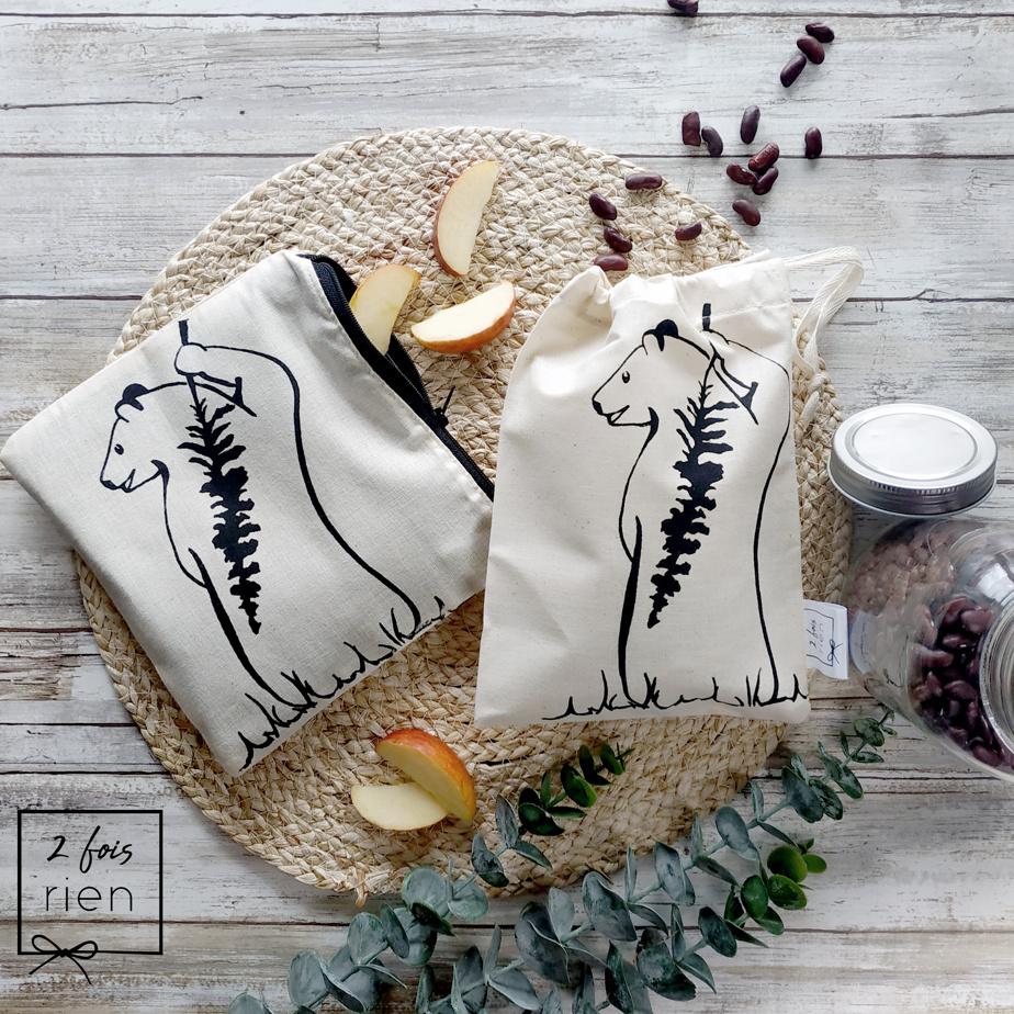 Les sacs à vrac sérigraphiés en coton de2foisrien