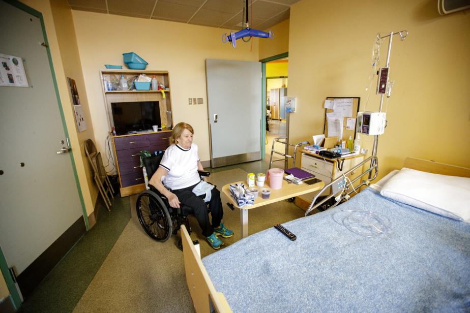 Dans sa chambre de l'unité de réadaptation de l'hôpital de Joliette.