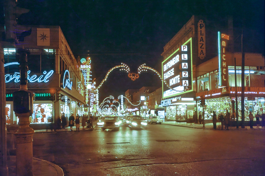 À l'angle de la rue Beaubien en 1969