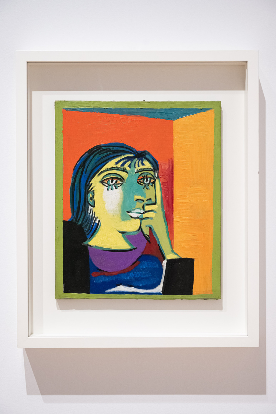 Portrait de Dora Maar, 1937, Pablo Picasso, huile sur toile, 55,3x 46,3cm