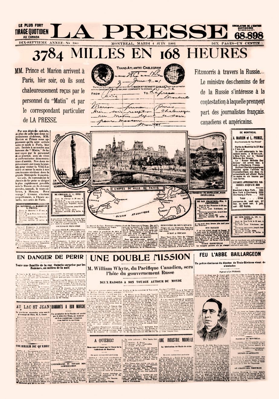 Une de La Presse du 4juin1901